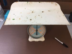 Photo Baby scales-Antique. Fish scales