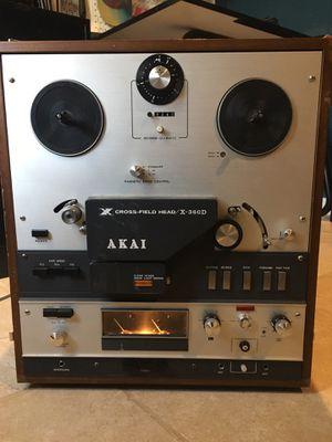 AKAI X-360D REEL TO REEL Player Recording DECK 3 SPEED Cross Field Vintage for Sale in San Antonio, TX