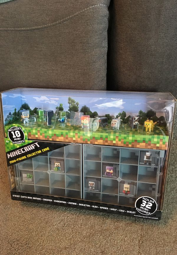 Minecraft Mini Figure Figures and Collector Case for Sale in Everett, WA -  OfferUp