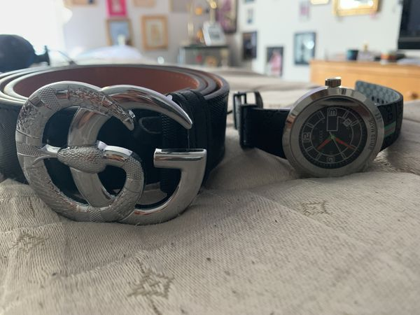 3fb2e8bf3 Real Gucci Belt and Gucci Watch for Sale in Decatur, GA - OfferUp