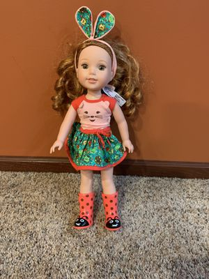 Photo Doll/ American girl wellie wishers doll