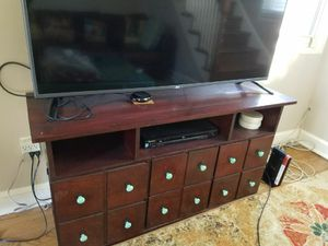 Solid wood TV console with storage for Sale in Washington, DC