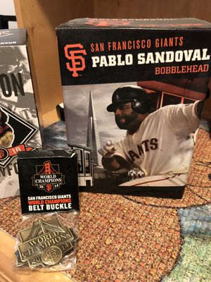 BOBBLEHEADS SF Giants BCraw Panda World Series Belt Buckle for Sale in San Francisco, CA