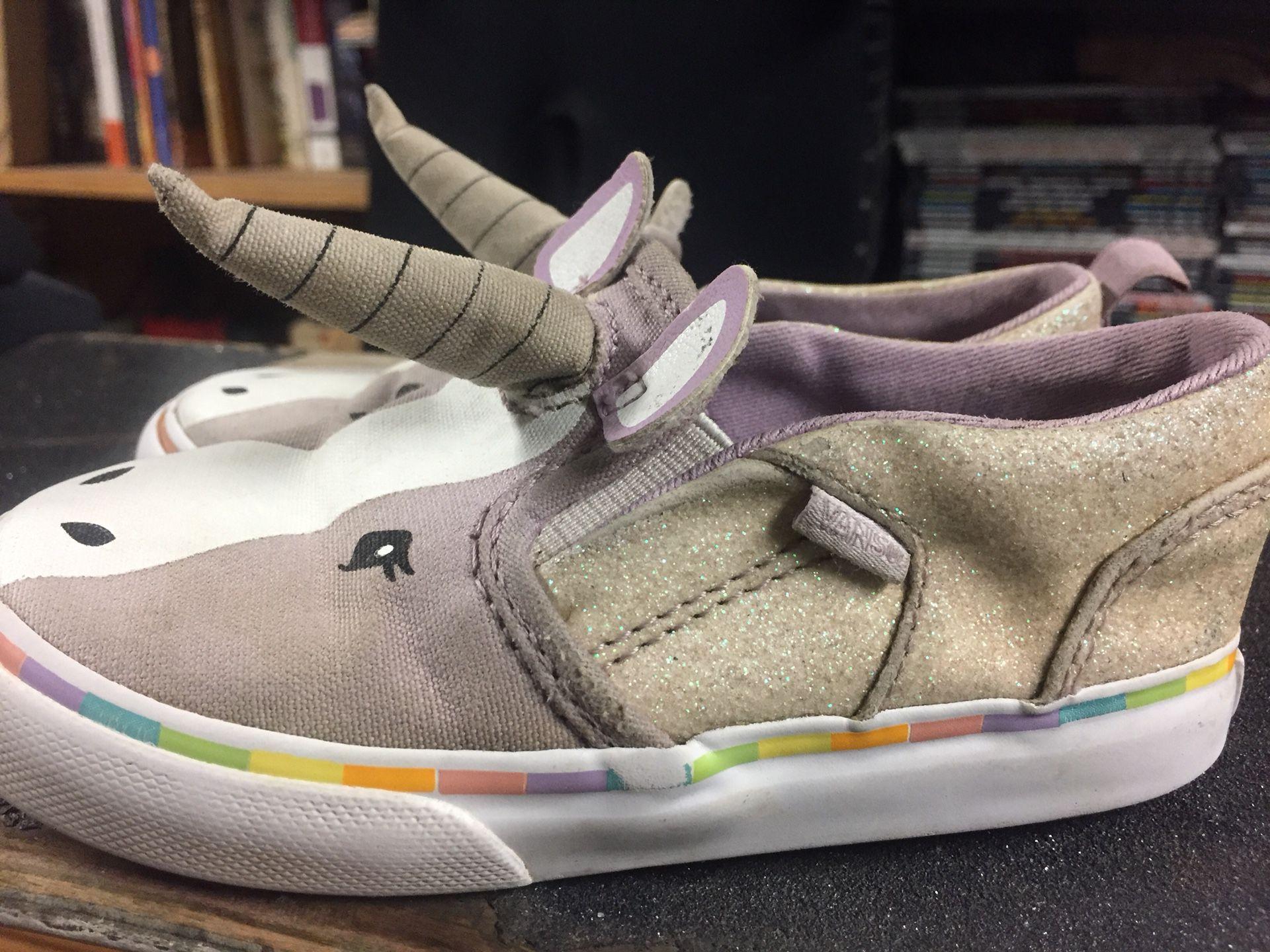 Vans toddler size 8.5 unicorn shoes