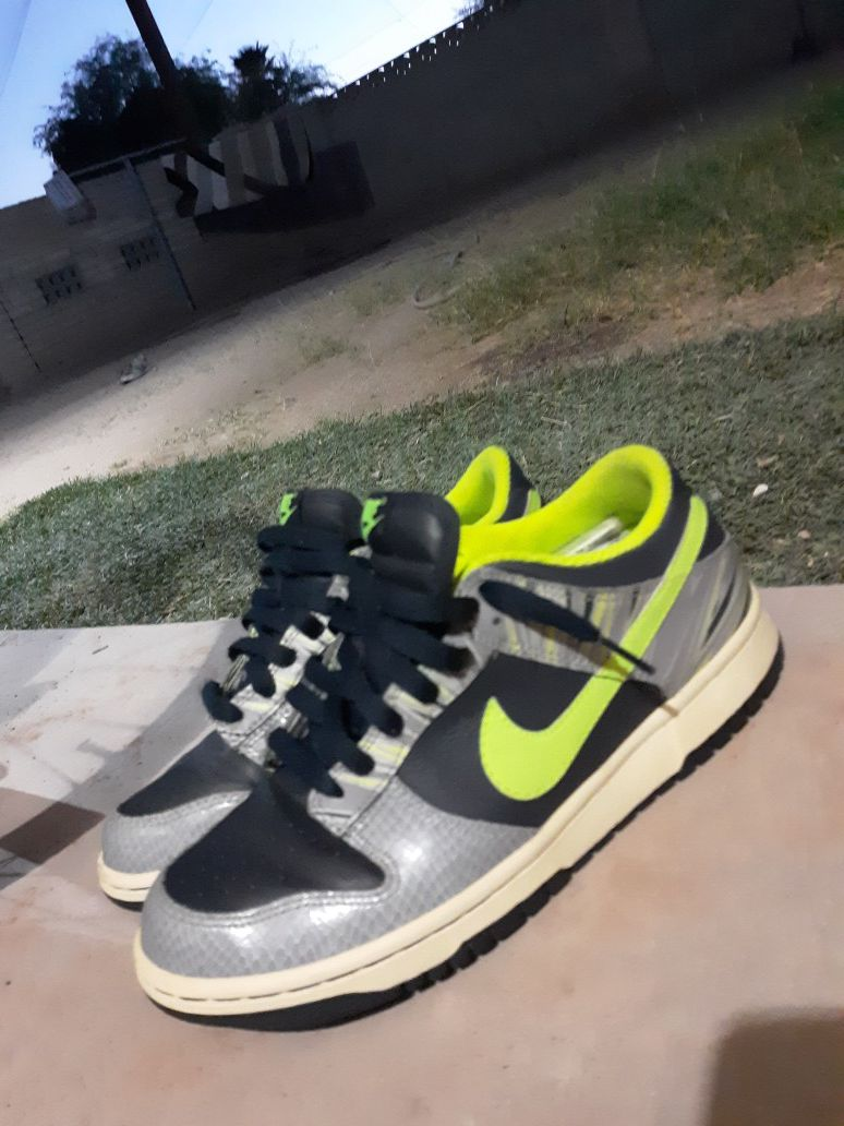 Nike Air force one 6.5y neon green tiger stripes