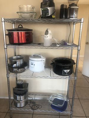 Kitchen appliances and metal kitchen rack for Sale in Lancaster, CA
