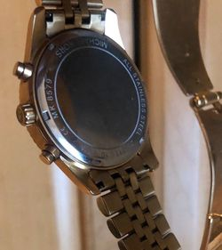 Michael Kors Men's Analog-Quartz Watch with Stainless-Steel Strap, Gold, 22 (Model: MK8579) Thumbnail