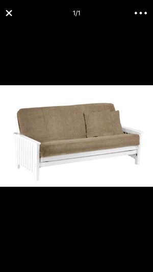 White Wooden And Metal Futon Frame With Cushion For In Melbourne Fl