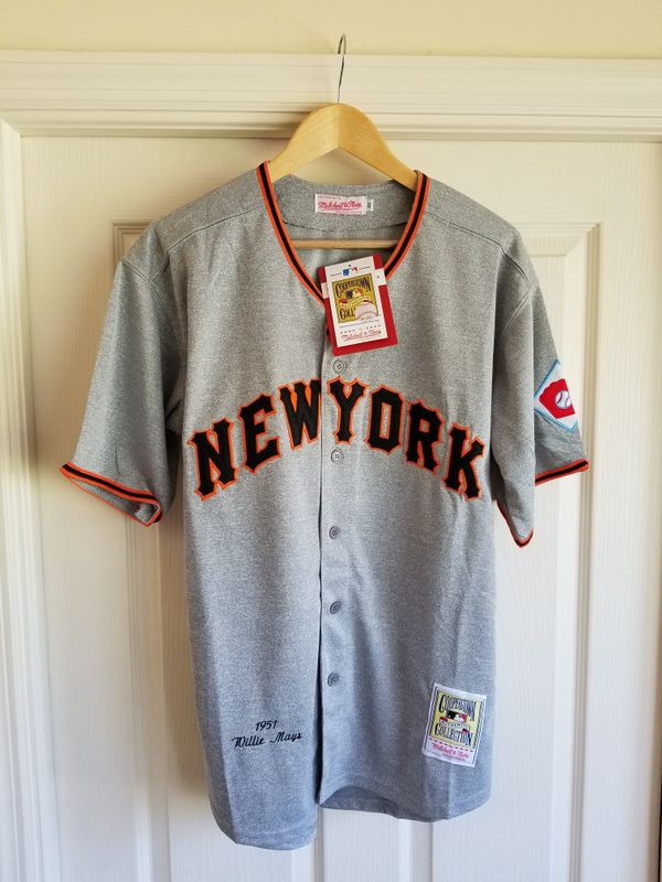 45f7eb008 WILLIE MAYS NEW YORK GIANTS THROWBACK JERSEY SIZE M for Sale in Fort ...