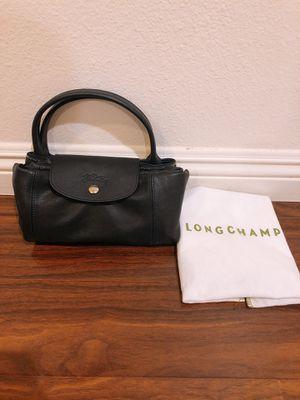 270c8f247d8 Longchamp Le Pliage Cuir Handbag with Strap, Navy for Sale in San Gabriel,  CA