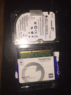 500 gb hard drive and 4gb ram from 2011 MacBook Pro Thumbnail