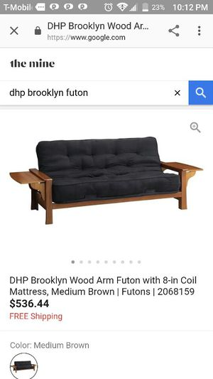 Dorel Home Product Brooklyn Wood Arm Futon For In Oklahoma City Ok