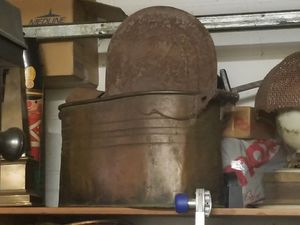 Early 1900's Antique Copper Pot : Plant Decor, Basin, Canning : All Copper! for Sale in Winter Park, FL