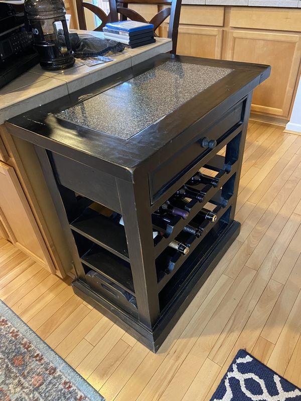 End Table Island Wine Rack For Sale In Lake Stevens Wa
