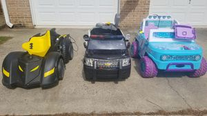 Photo POWER WHEELS- Frozen, Batman & Police car