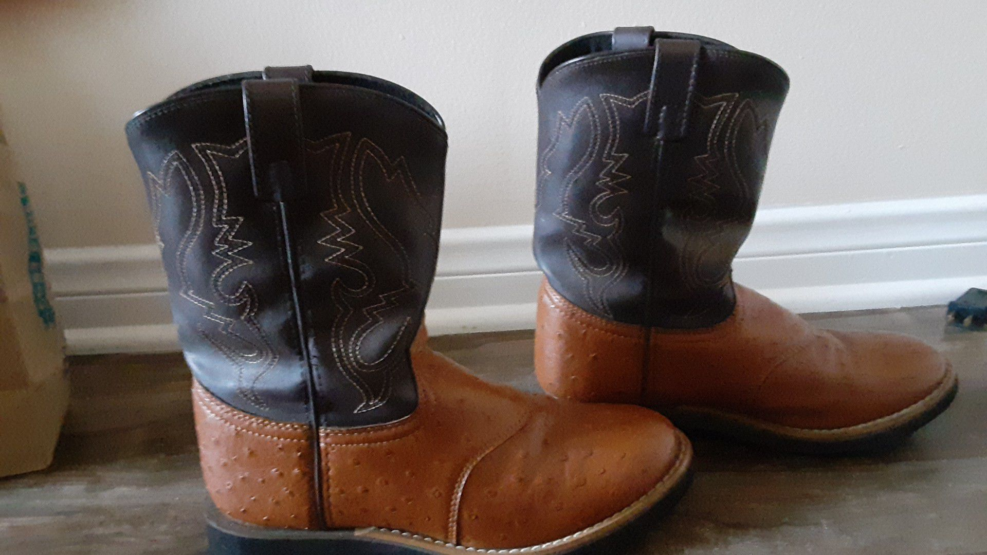 Ostrich skin cowgirl boots