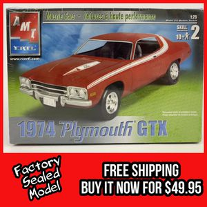 Photo FACTORY SEALED 1:25 SCALE 73-74 PLYMOUTH GTX / ROADRUNNER AMT/ERTL MODEL - LAST ONE