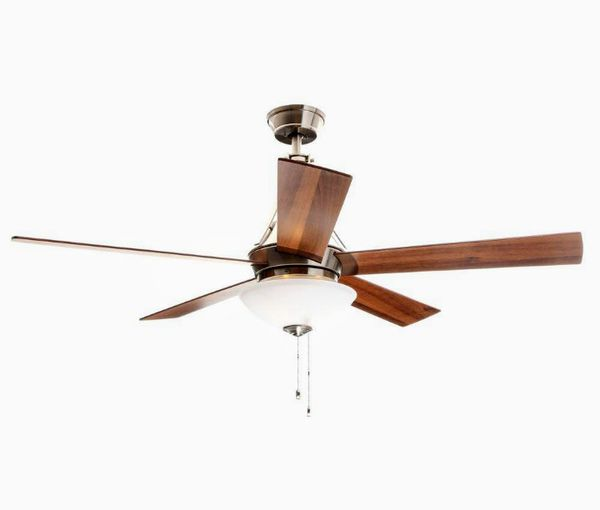 Hampton bay everbilt 54 in indoor brushed nickel ceiling fan with indoor brushed nickel ceiling fan with light kit for sale in houston tx offerup aloadofball Choice Image