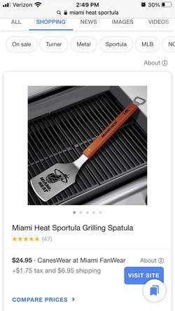 Miami Heat Sportula - NBA licensed spatula bottle opener Sold out online Thumbnail