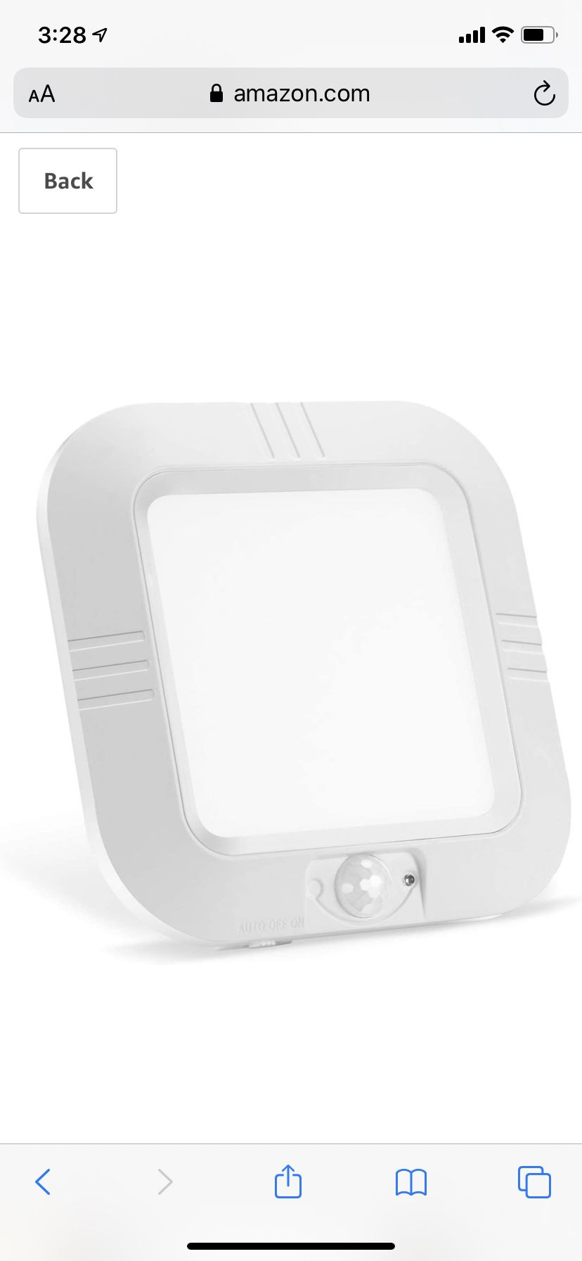 Lineway Motion Sensor Ceiling Light Battery Operated Wireless Motion Activated LED Ceiling Light 6000K 180LM Indoor Outdoor for Closets Stairway Cabi