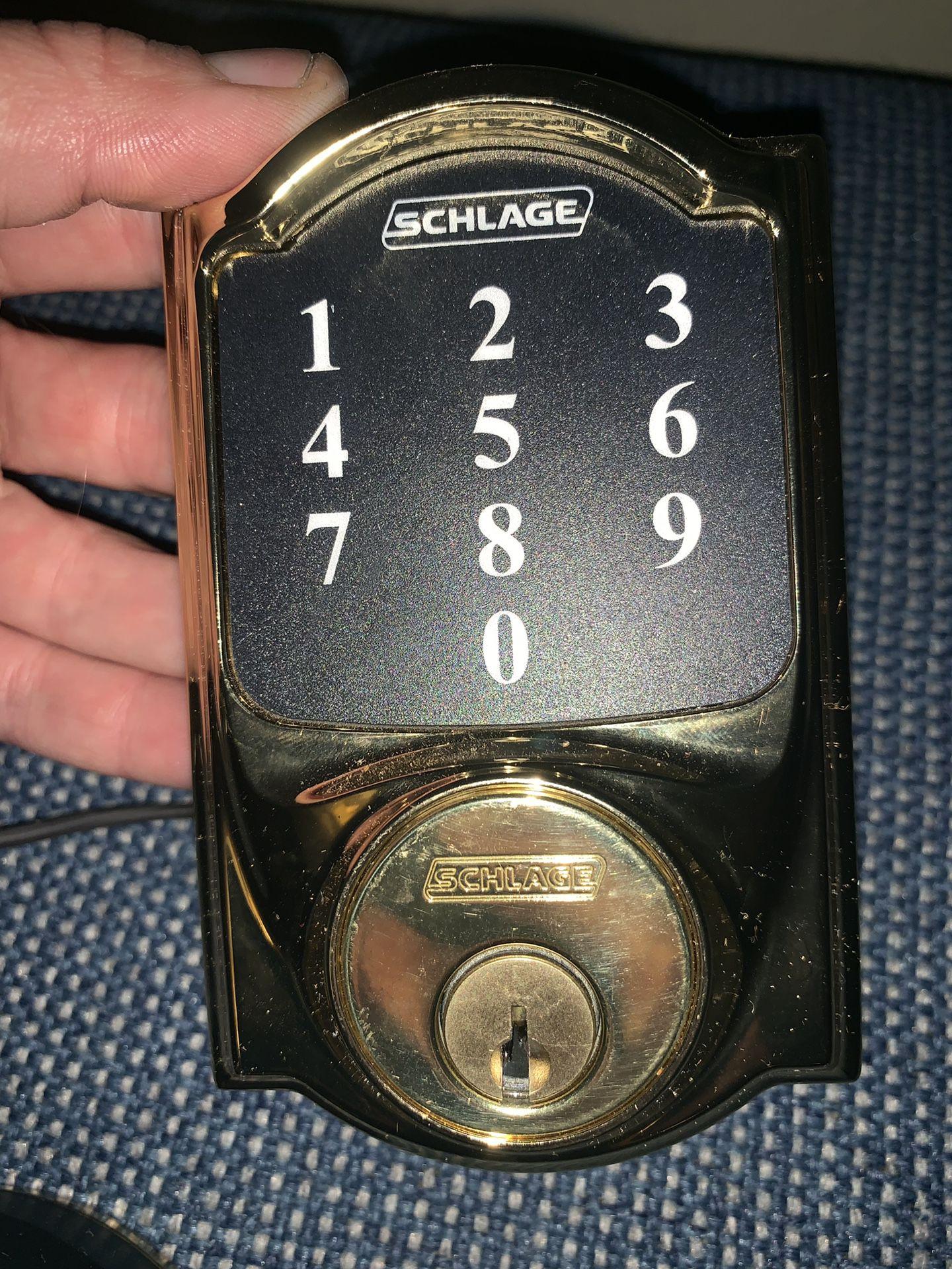 Schlage keyless entry pin pad