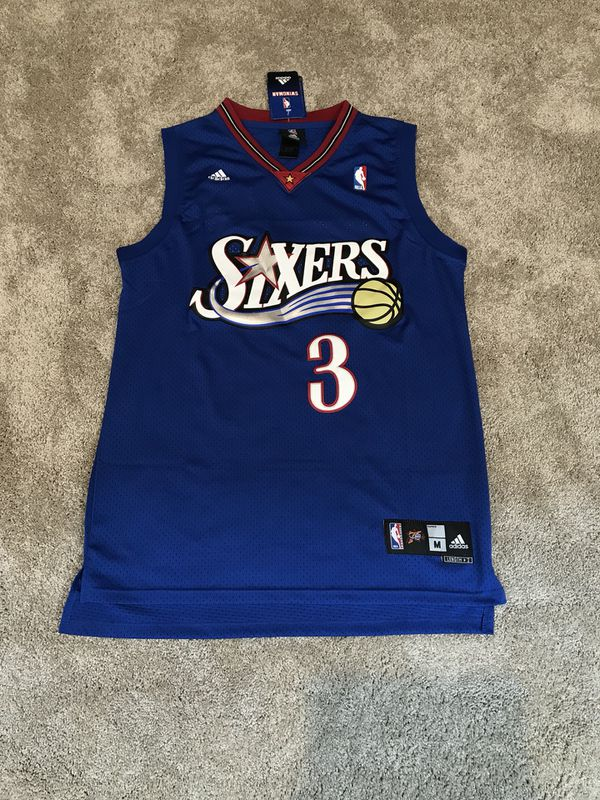 28f39964 Allen Iverson Philadelphia 76ers Blue Jersey NWT for Sale in New Albany, OH  - OfferUp