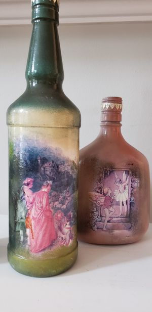 Hand-painted wine bottles for Sale in Rockville, MD