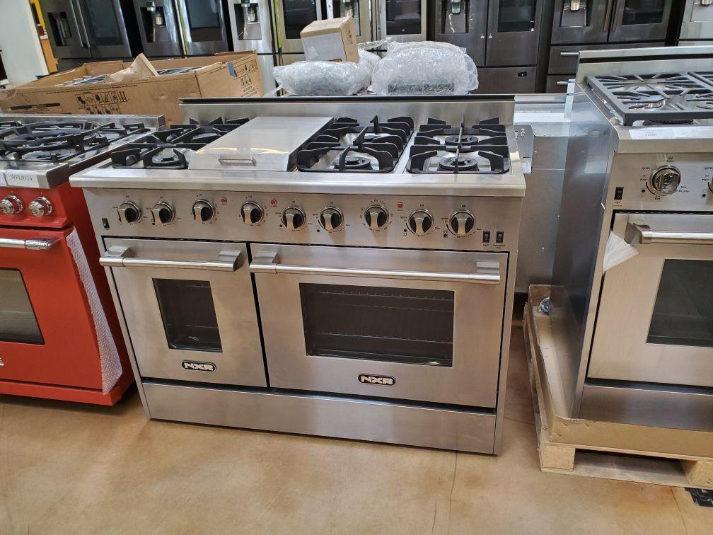 "NXR 48"" Gas Range double oven"
