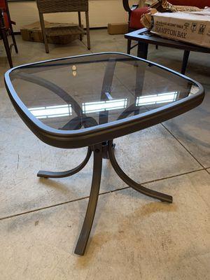 "Photo Hampton Bay 18"" Square Steel Patio Side Table"
