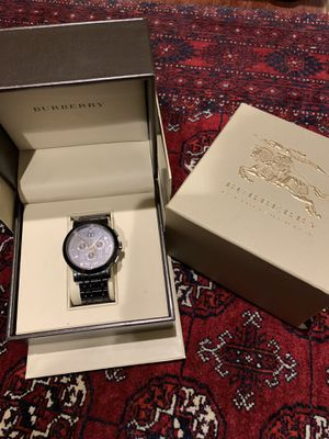 Burberry Black Stainless steel. Swiss made. Rare piece. for Sale in Vienna, VA