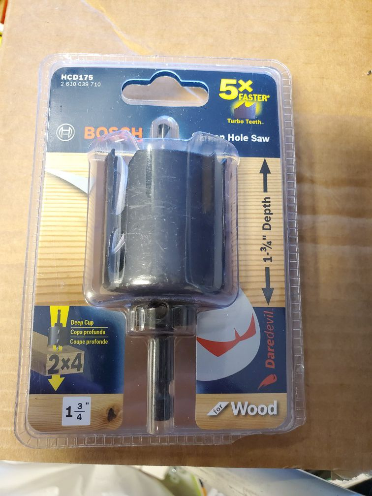 Bosch Daredevil 1-3/4 in. Wood Hole Saw with Arbor