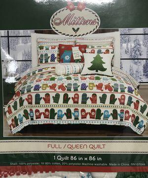 Christmas Mitten Quilt Full/Queen for Sale in Jacksonville, FL