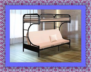 Twin futon bunkbed frame free delivery for Sale in Ashburn, VA