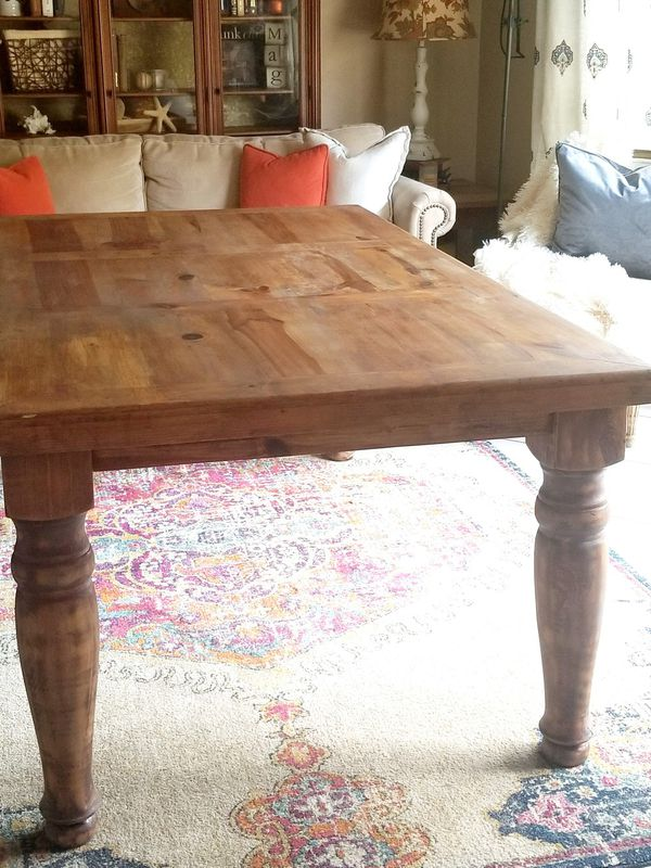 Farmhouse Solid Chunky 6 Ft Dining Table Custom Furniture In Hollywood Fl Offerup