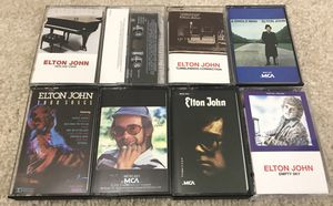 Lot of 7 Elton John Cassettes Tapes - Here & There, Empty Sky + MORE for Sale in Chicago, IL
