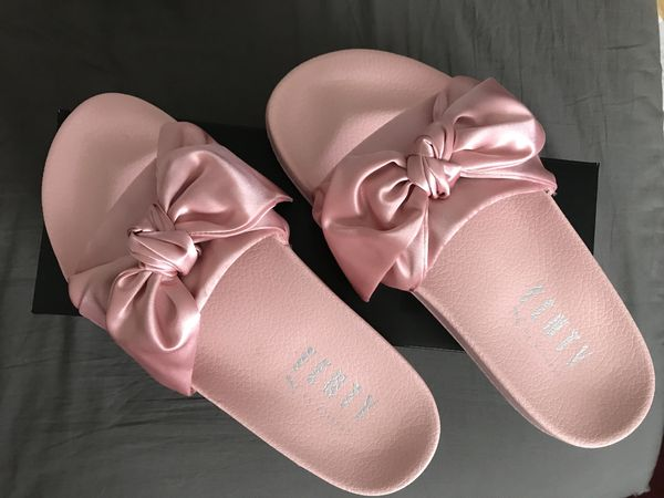 premium selection 6e88a b3c83 Puma Fenty x Rihanna pink satin bow slides for Sale in San Jose, CA -  OfferUp