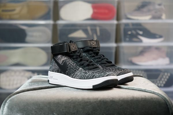 cheap for discount 78aaa a74cc Nike Air Force 1 AF1 Ultra Flyknit Mid (GS) Black White 862824-001 Youth Sz  5Y for Sale in Fremont, CA - OfferUp