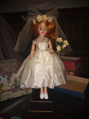 Antique Bride Doll With Stand for Sale in Dallas, TX