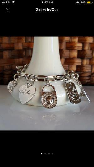 Mk Michael Kors charms bracelet heart Padlock key for Sale in Silver Spring, MD