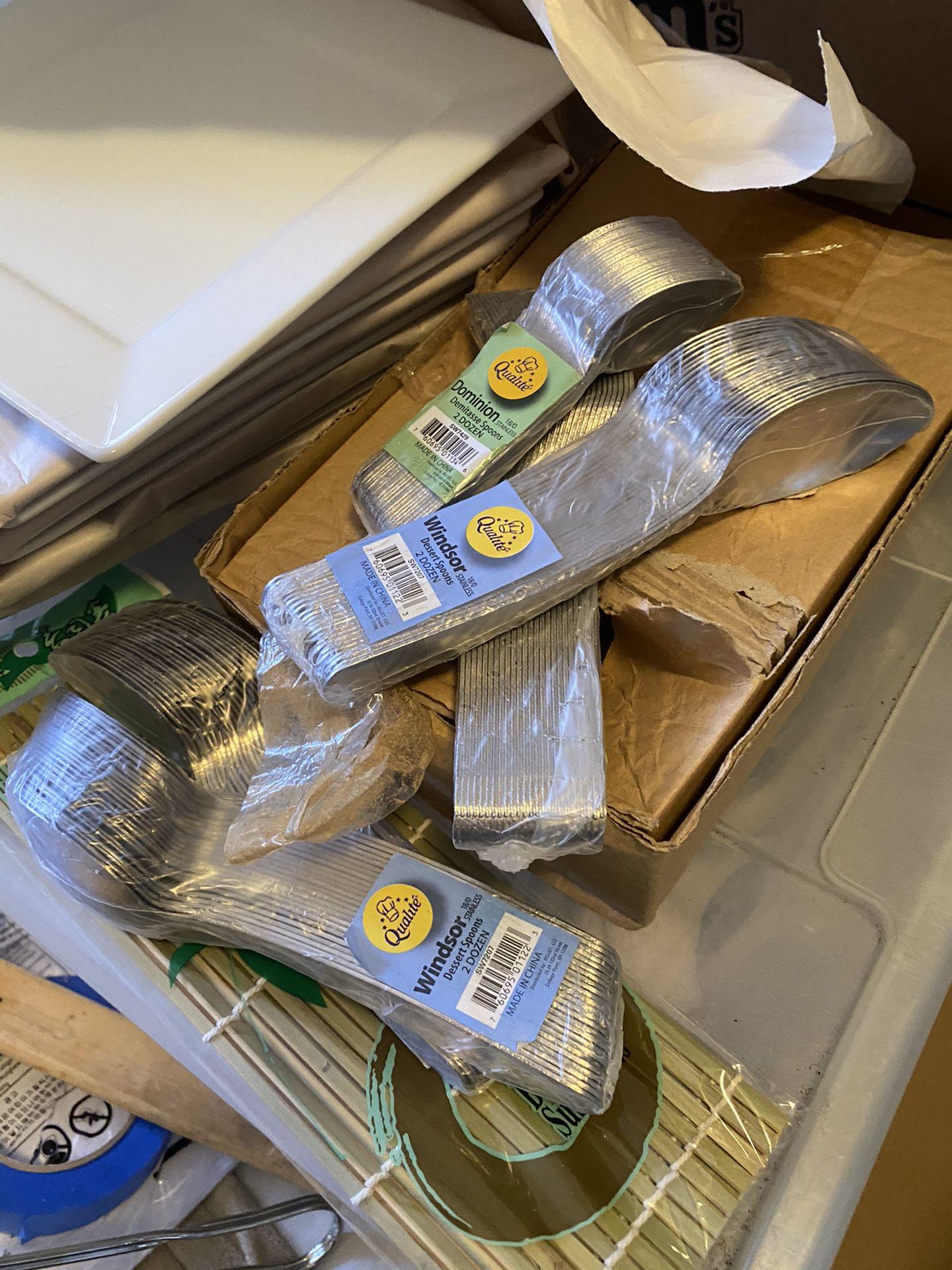 Sauce bottles and restaurant equipment