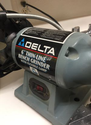 Astonishing Delta 6 Thin Line Bench Grinder W Flex Lamp For Sale In Alphanode Cool Chair Designs And Ideas Alphanodeonline