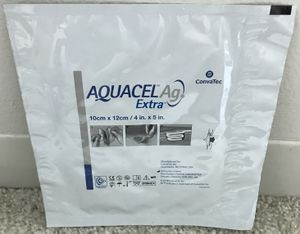 "Box of 5 AQUACEL EXTRA AG Hydrofiber New & Improved Dressing 4"" x 5"" Ref 420677 for Sale in Chicago, IL"