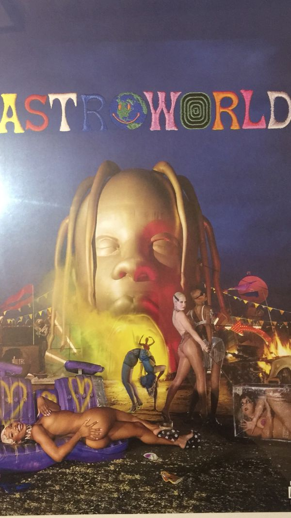 51949944168c Travis Scott astroworld night album cover print and poster in 11x17 inch  glass frame
