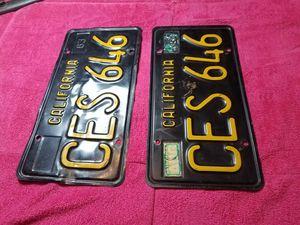 2 California License Plates 1963 for Sale in Dallas, TX