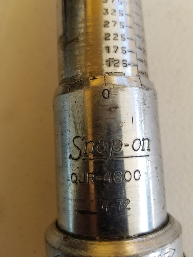 """Snap-on Torque Wrench QJR-4600 3/4"""" Drive 100-600 FT Lbs"""