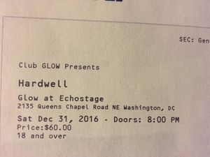 Hardwell NYE at Echostage tickets for tonight for Sale in Manassas Park, VA