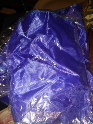 Silver and royal blue organza table runners, used for sale  Tulsa, OK