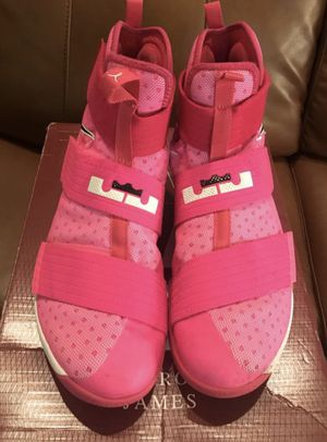 b843eca2c35 ... best nike lebron zoom soldier 10 size 13 kay yow breast cancer pink  sneakers for sale