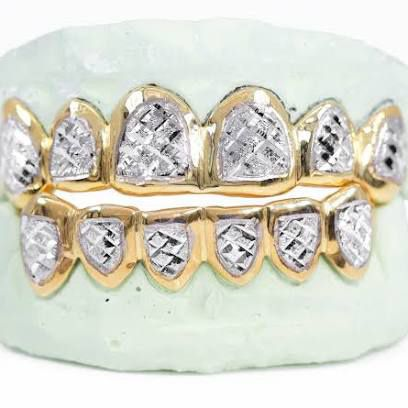 10kt 6pcs Grillz Yellow Gold White Gold Rose Gold Any Design For $325