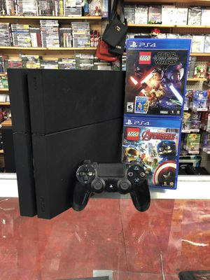 PlayStation 4 PS4 with (2) LEGO kids games for Sale in Jersey Village, TX